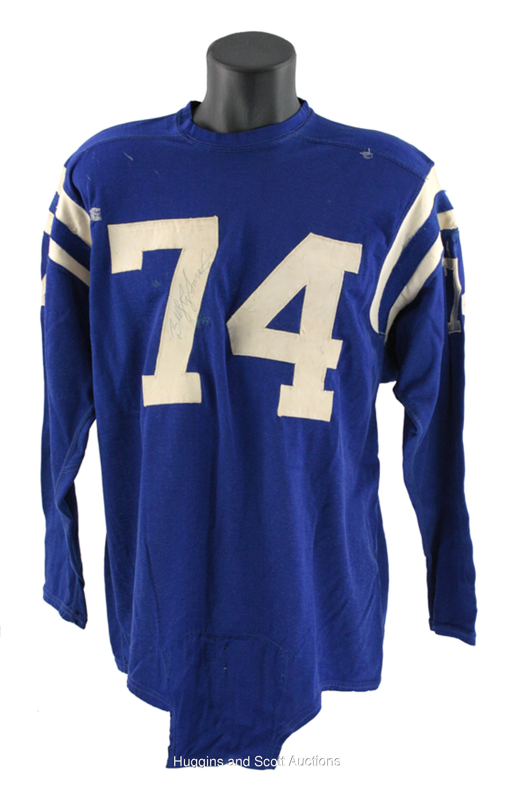 new product e67da 4d4c1 Billy Ray Smith 1963-1970 Baltimore Colts Signed Game-Worn ...